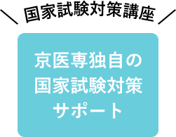 京医専独自の国家試験対策サポート